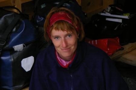 Anja im Shelter