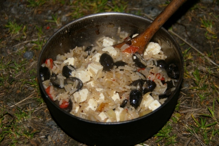 Reis mit Oliven