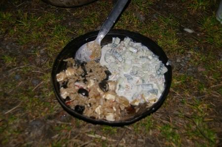 Reis mit Oliven und Tarator