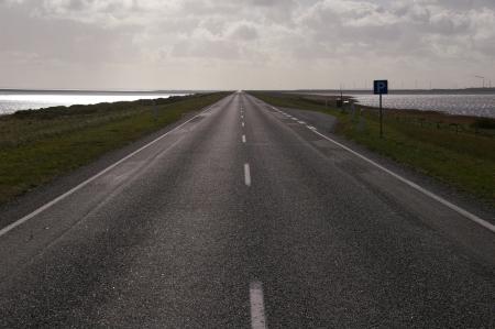 Straße in Dänemark
