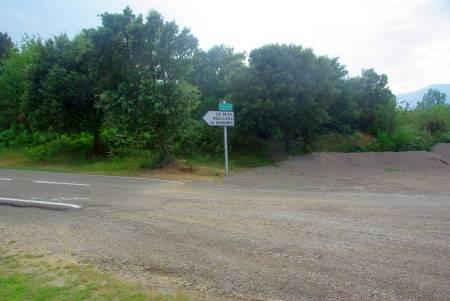 Grenze Frankreich Spanien in der Nähe von Las Illas