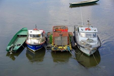 Boote auf der Loire