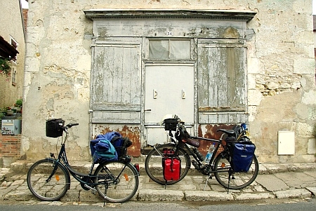 Unsere Räder auf der Loire Route