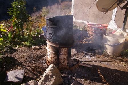 großer Hobo-Ofen